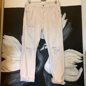 Corey Jeans White Distressed slouchy BF Fit